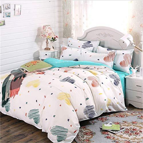 SSHHJ Bedding Set Cotton Duvet Cover Sets Pillowcases Twin Full Queen King C 200x230cm -