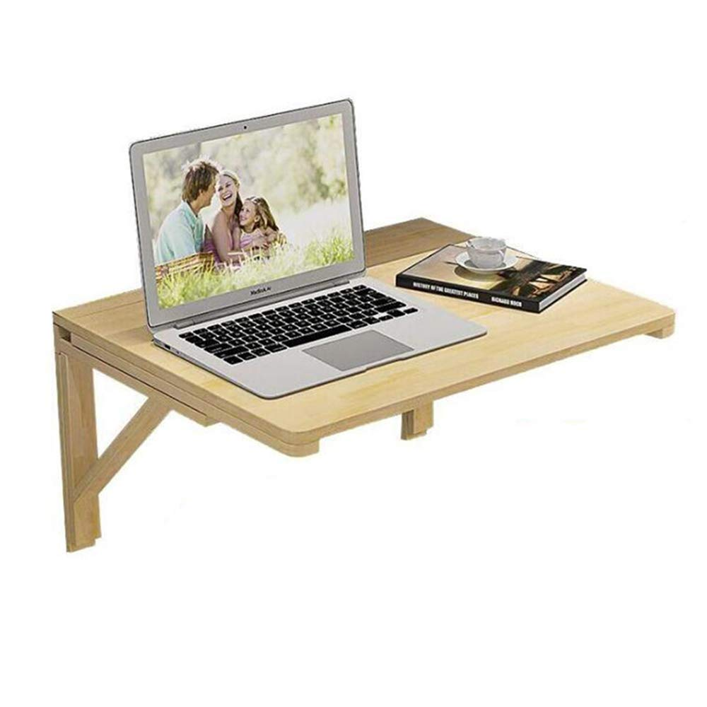 Wood 10050 Tingting Wall-Mounted Folding Table Laptop Table Dining Wooden Table Computer Desk for Office Home Kitchen Drop-Leaf Table 14 Sizes (color   Wood, Size   100  50)