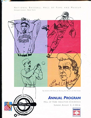 Earl Weaver Signed 1996 Baseball Hall of Fame Program