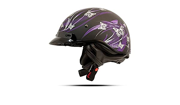 Zoan cascos de la ruta 66 mitad casco - pero terfly BLK/morado - XL 031 - 217: Amazon.es: Coche y moto
