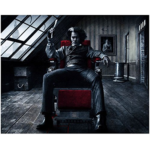 - Johnny Depp as Sweeney Todd Seated in Barber Chair 8 x 10 Inch Photo