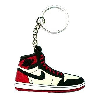 aa2e590b4a4e Air Jordan I 1 Black Toe AJKO Black White Red Chicago Bulls Sneakers Shoes  Keychain Keyring AJ 23 Retro by DarrellsWorld