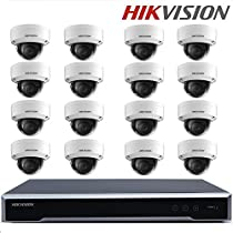 Hikvision Original English H.265 CCTV System DS-7616NI-K2/16P Onvif 2 SATA interfaces HDMI + DS-2CD2135FWD-IS 3MP H.265 IP Camera Support EZVIZ P2P + Seagate 4TB HDD (16 Channel + 16 Camera)