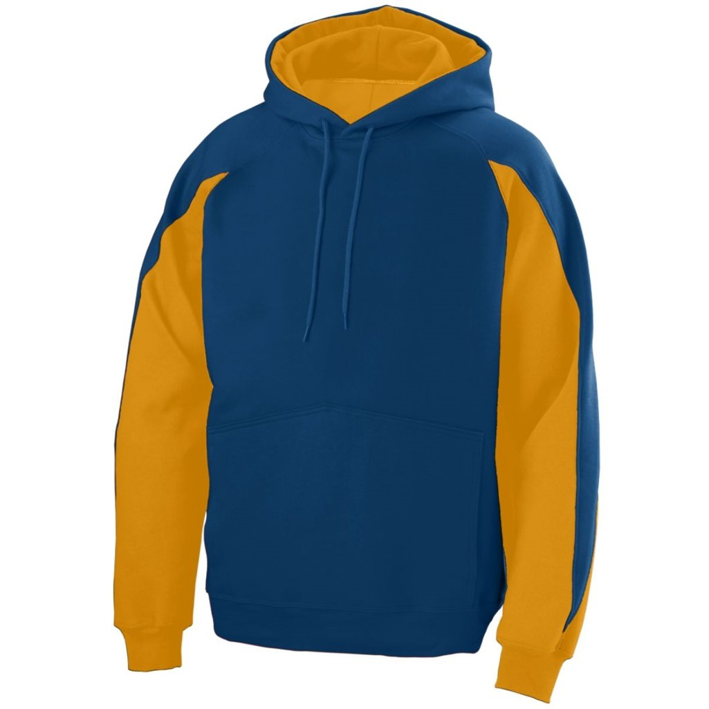 Augusta Youth Volt Hoody- Style 5461 (Small, Navy/Gold)