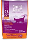 Natural Balance Alpha Grain-Free Trout, Salmon Meal, and Whitefish Formula for Cats, 5-Pound Bag, My Pet Supplies