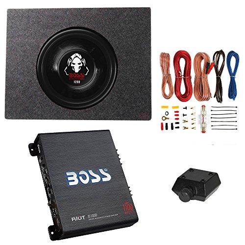 Boss 1200W Subwoofer + Q Power Truck Enclosure + Boss 1100W A/B Amplifier (System Woofer)