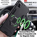 TheGiftKart Polycarbonate Armor Back Case Cover for Samsung Galaxy M12/F12/A12 (Carbon Black)