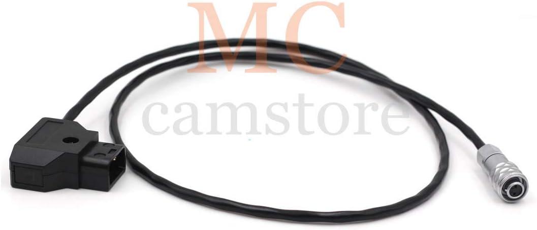 2.6ft=80cm MCCAMSTORE 12V DC Power BMPCC 4K 2pin Power Cable for Blackmagic Pocket Cinema Camera 4K