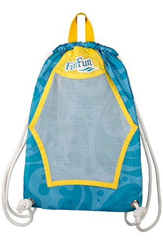 Fin Fun Mermaid Drawstring Backpack Swim Tote - Mermaidens Swim (Fun Backpacks)