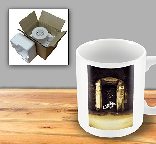 Printed Banksy Mug - Fallen Angel In Doorway by The Victorian Printing Company