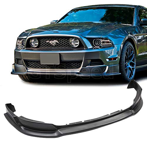 Mach 1 Chin Spoiler - 2013-2014 Ford Mustang GT V6 V8 USDM RTR Style Front Bumper Lip - PU