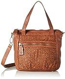 Liebeskind Berlin Women's Paria Handwoven Leather Satchel, Cherokee Orange