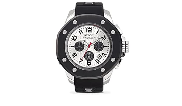 Amazon.com: KYBOE! PORT SILVER SHADOW KPS.48-004.15 Mens Chronograph Watch: Watches
