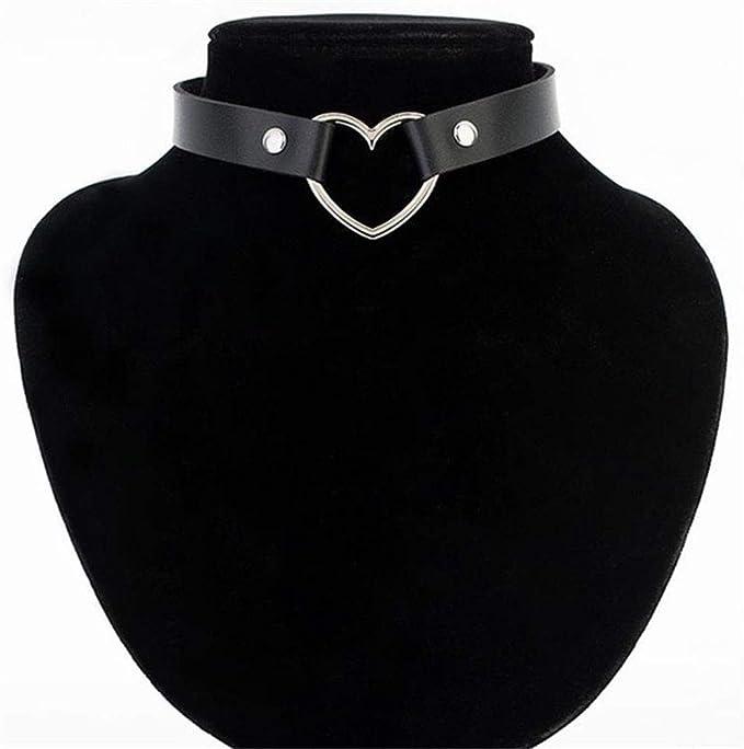 NIMUIL Mujer Choker Collares Gótico Corazón Gargantilla de Cuero ...