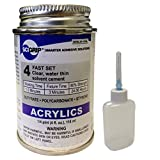 Weld-On 4 Acrylic Adhesive - 4 Oz and Weld-On Applicator Bottle with Needle