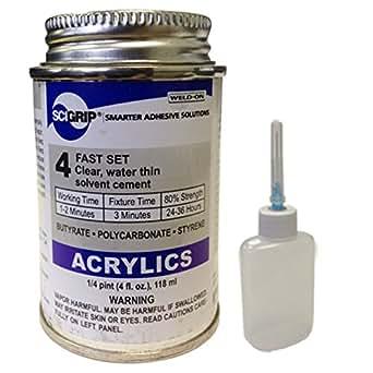 Weld On 4 Acrylic Adhesive 4 Oz And Weld On Applicator