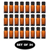 5 Ml Essential Oil Bottles 10 ml Amber Glass Essential Oil Bottles With Euro Dropper & Tamper Evident Caps Set of 24