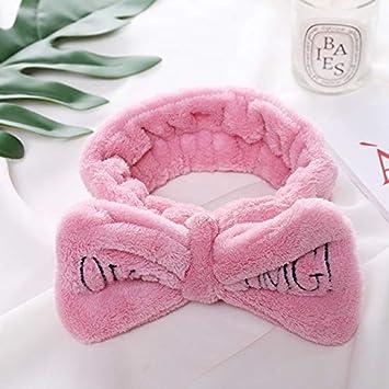 "/""OMG/"" Soft Coral Fleece Girls Headbands Cute Bow Hair Bands Headwear Hair Holder"