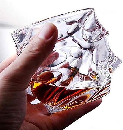 Xuan - worth having Copas de Vino Vaso de Cristal Juego de 6 Piezas Vidrio Resistente al Calor Vidrio de Whisky Copa de Vino Copa de Vino Cerveza Vaso de Jugo Taza de té Taza de té Ola 330 ml