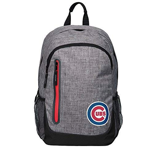 Forever Collectibles MLB Chicago Cubs Heather Grey Backpack, Team Color, One Size ()