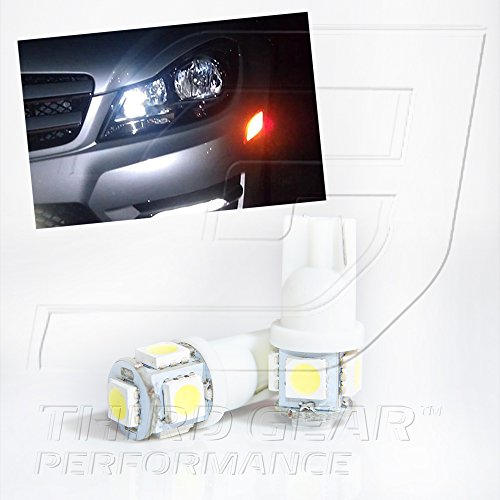 TGP T10 White 5 LED SMD Wedge 5050 Parking Light Bulbs Pair 2001-2012 Toyota Prius ALL