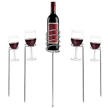 Copa de vino - botella MP-5 Juego de-acero inoxidable-al aire