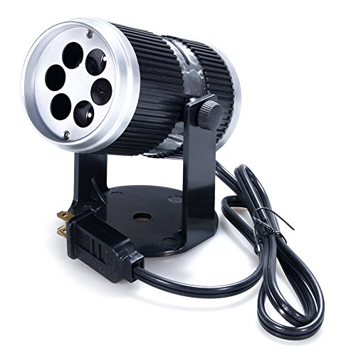 Zehui Creative LED Projection Lamp Stage Light with 6 Film Cards for Christmas Halloween Valentine's Day Birthday KTV Club US Plug 100-120V by Zehui