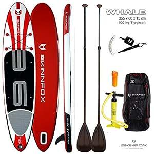 Skin Fox SEAH orse Stand Up paddleb oard Sup Carbon Set (330x 78x 15) (Board, Bag, Bomba, carbon de remo, Leash, Vest Azul)