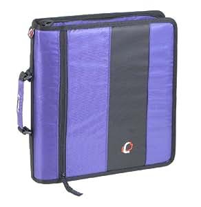Case-it D-250 Zipper Binder, Purple Size - 13 X 12 X 2.8 inches