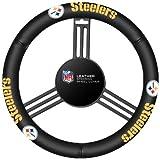 NFL Pittsburgh Steelers Leather Steering Wheel