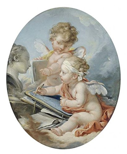 Boucher Costume Jewelry ('Francois Boucher (attributed To) - Drawing, 18th Century' Oil Painting, 24x29 Inch / 61x74 Cm ,printed On Polyster Canvas ,this Art Decorative Prints On Canvas Is Perfectly Suitalbe For Hallway Gallery Art And Home Artwork And Gifts)