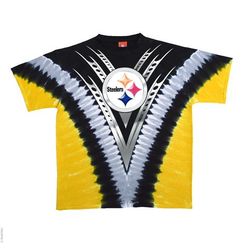 Amazon.com   Pittsburgh Steelers Logo V Tie Dye T-shirt (Large)   Novelty T  Shirts   Clothing 235b5b444