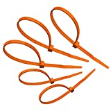 "Tach-It 8"" X 40 Lb Tensile Strength Orange Colored Cable Tie (Pack of 1000)"