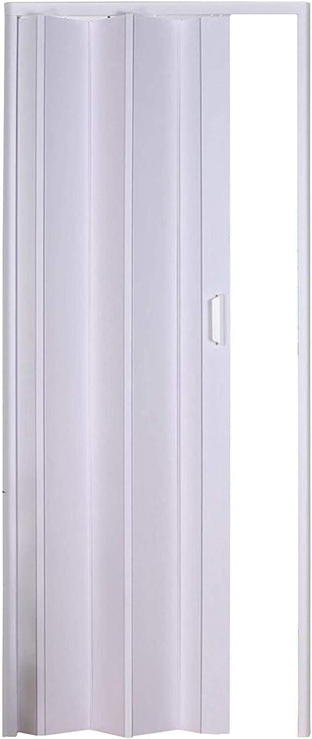 Forte PKM10021214 - Puerta plegable unisex para adulto, blanco, 83 x 214 cm de altura