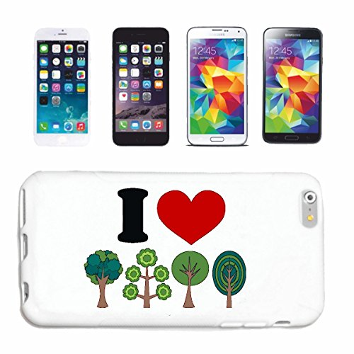 "cas de téléphone iPhone 7+ Plus ""J'AIME ARBRES J'AIME ARBRES ENVIRONNEMENT NATUREL ENVIRONNEMENT LEAF TREE FIR SPRUCE"" Hard Case Cover Téléphone Covers Smart Cover pour Apple iPhone en blanc"
