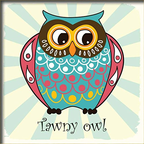 Diy oil painting, paint by number kits for kids - Wisdom tawny owl 8