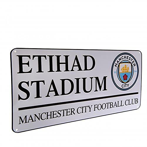Signs Of The City (Manchester City F.C - Metal Street Sign (Etihad))