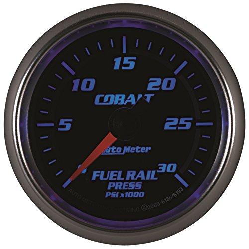 """Auto Meter 6186 Cobalt 2-1/16"""" 0-30000 PSI Full Sweep Electric Diesel Fuel Rail Pressure Gauge"""
