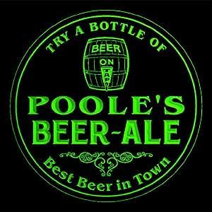 4x ccpn1452-g Poole del mejor cerveza y Ale en la ciudad Bar Pub 3d posavasos