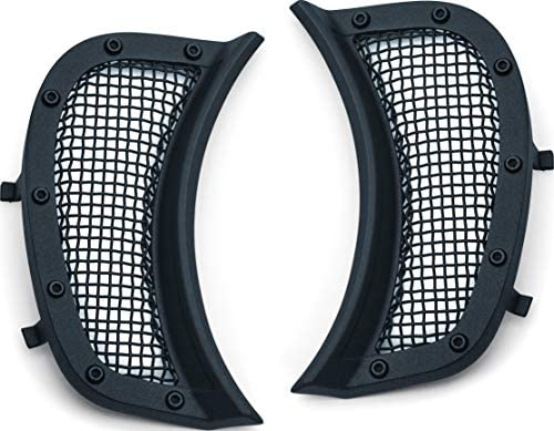 Kuryakyn 6519 Motorcycle Accessory Mesh Headlight Vent Accents for 2015-19 Harley-Davidson Road Glide Motorcycles 1 Pair Satin Black