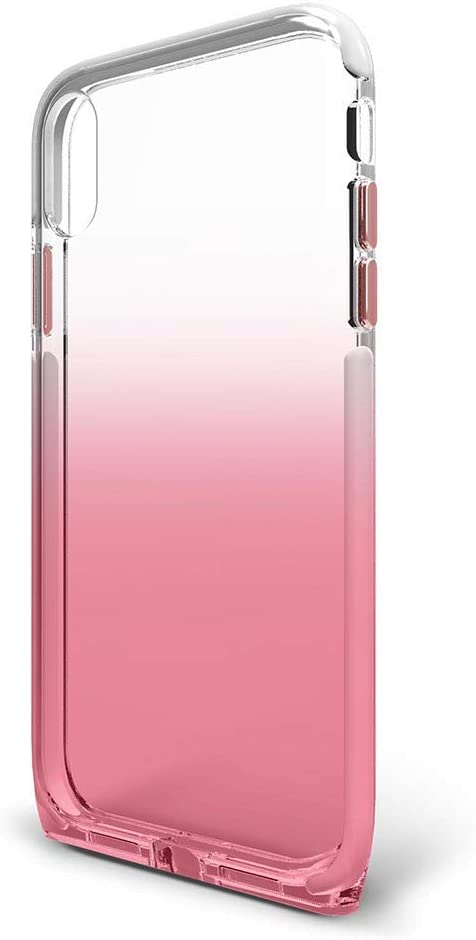 BodyGuardz - Harmony Case for Apple iPhone Xs/X (Clear/Pink), Extreme Impact and Scratch Protection for iPhone Xs/iPhone X (Rose Quartz)