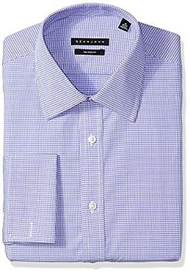Sean John Men's Dress Shirt Regular Fit Mini Check