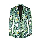 WEEN CHARM Men's Ugly Christmas Party Suit Blazer Funny Xmas Party Costumes Holiday Jacket