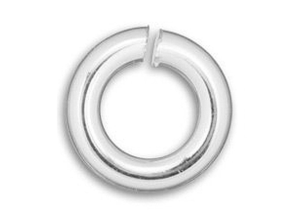 100 pcs Wholesale 10mm Round Open Jump Ring 925 Sterling Silver 16 Gauge Heavy Duty by BeadWholesaler