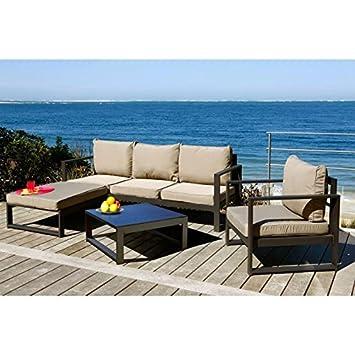 Lagoon-Lounge Garten Aluminium ID schwarz: Amazon.de: Garten