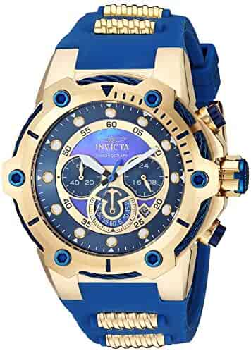 df0a148fc Invicta Men's Bolt Stainless Steel Quartz Watch with Polyurethane Strap,  Two Tone, 30 (