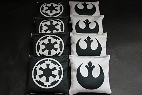 BackYardGamesUSA STAR WARS Custom Cornhole Bean Bags 8 ACA Regulation Corn Hole Bags Great Star Wars party or gift idea by BackYardGamesUSA