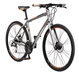 "Schwinn Phocus 1500 Flat Bar Road Men's Road Bike, 19""/ Medium Frame Size, Matte Grey"
