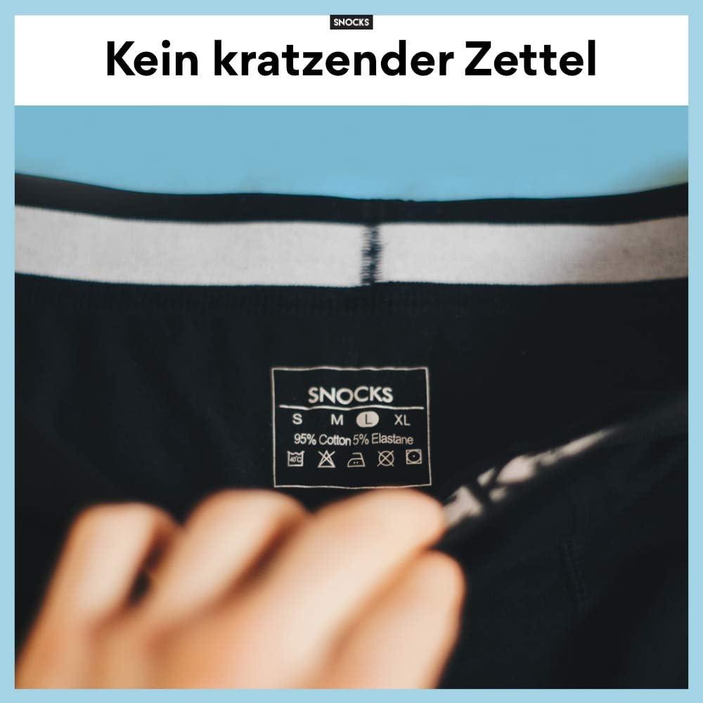 XL Black, White, Grey Snocks /® Men Boxer//Underwear - Cotton Sizes S 6 Pairs