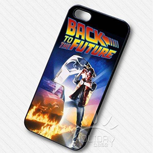 Back to the Future Vintage Poster pour Coque Iphone 6 et Coque Iphone 6s Case (Noir Boîtier en plastique dur) X5R5AZ